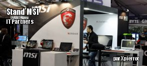 IT partners :  le stand de MSI